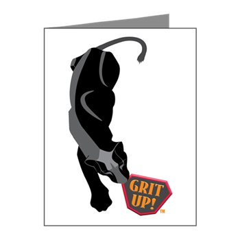 Black Jaguar with Grit Up™ Note Cards (Pk of 20)