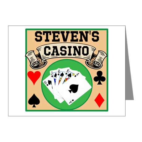 Personalized Casino Note Cards (Pk of 20)