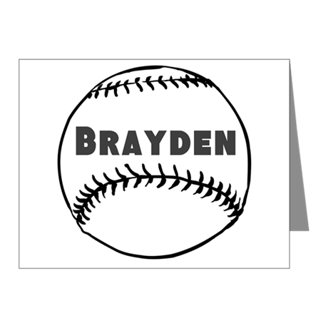 Personalized Baseball Note Cards (Pk of 20)