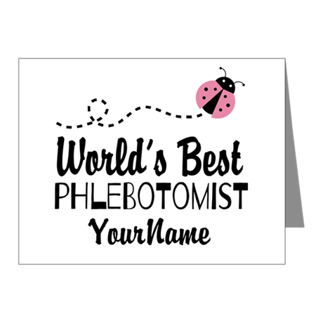 World's Best Phlebotomist Note Cards (Pk of 20)
