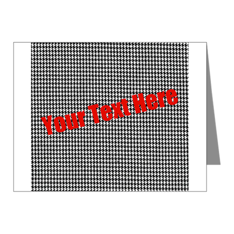 Custom Houndstooth Note Cards (Pk of 20)