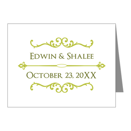 Personalized Anniversary Gift Note Cards (Pk of 20