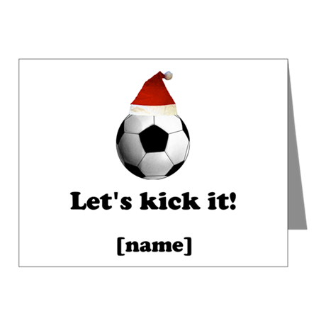 Personalized Lets kick it! - Xmas Note Cards