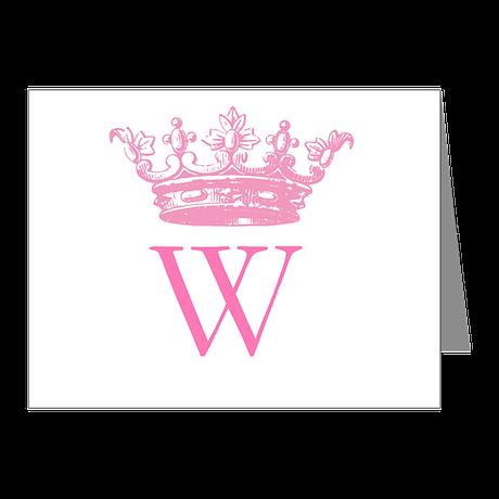 Vintage Crown Monogram Note Cards