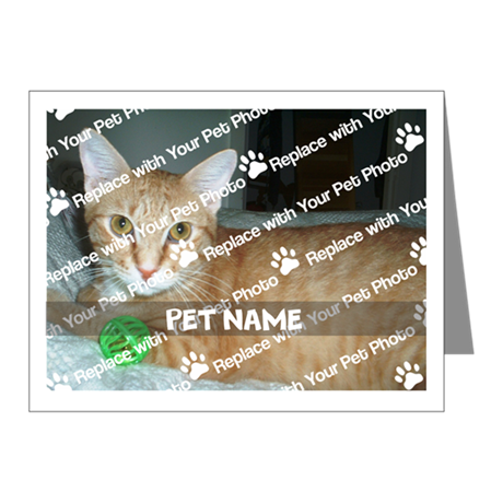 CUSTOMIZE Add Pet Photo And Name Note Cards (20)