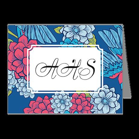 Bird Romantic Blue Note Cards (Pk of 20)