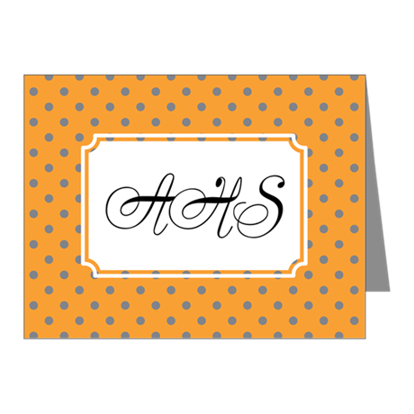 Diagonal Dots Orange Note Cards (Pk of 20)