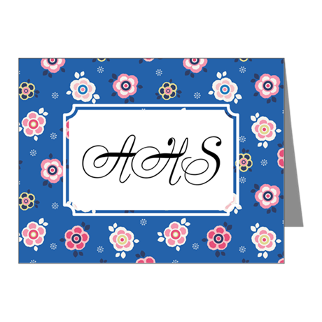 Flower Jeans Blue Note Cards (Pk of 20)