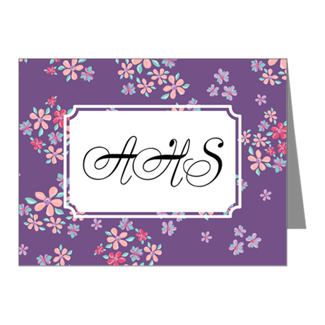 Flower Liberty Purple Note Cards (Pk of 20)