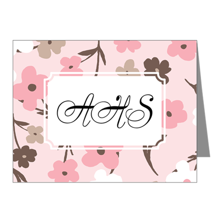 Flower Simple Pink Note Cards (Pk of 20)