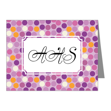 Mosaic Dots Purple Note Cards (Pk of 20)