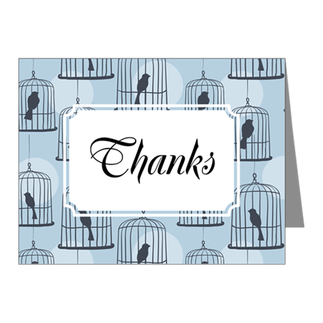 Birdcage Blue Note Cards (Pk of 20)