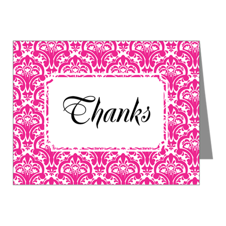 Flourish Soft Classic Pink Note Cards (Pk of 20)