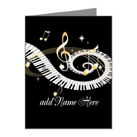 Personalized Piano Musical gi Note Cards (Pk of 20