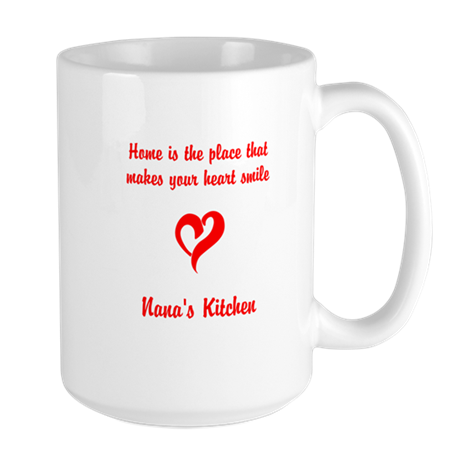 Home is the place that makes your heart Large Mug