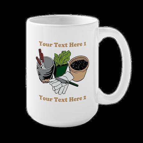 Gardening. Large Mug