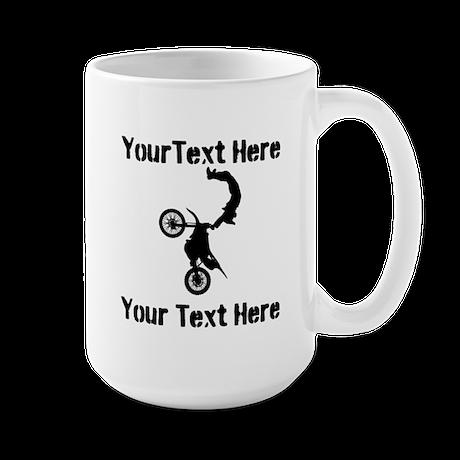 Eat Sleep Jump - Custom Text Large Mug