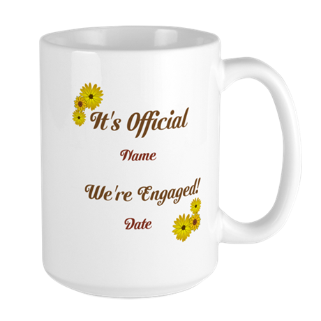 Summer, Fall Engagements Large Mug