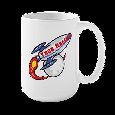Personalized rocket Large Mug
