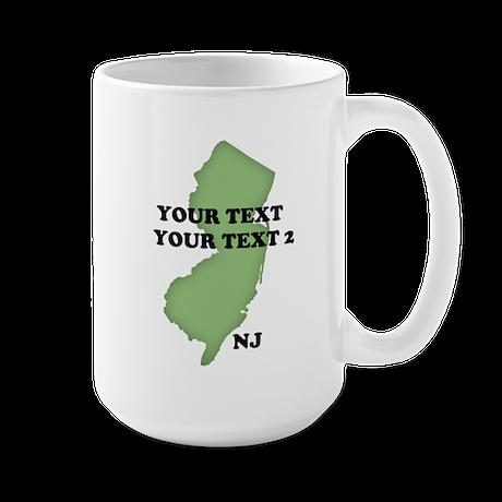 NJ YOUR TEXT Large Mug