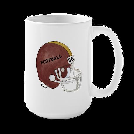 Football Helmet Large Mug