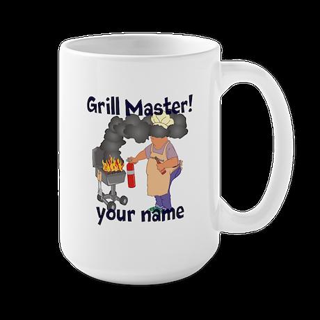 Personalized Grill Master Large Mug