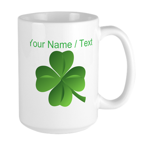 Custom Green Shamrock Mugs