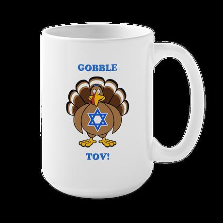 PERSONALIZE Thanksgiving Hanukkah Large Mug