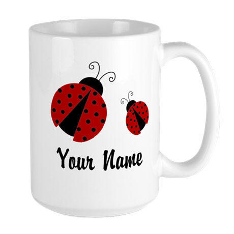 Ladybugs Red Personalized Mugs