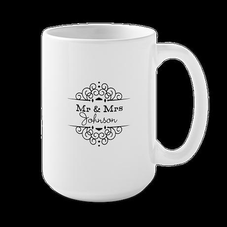 Personalized Mr and Mrs Mugs