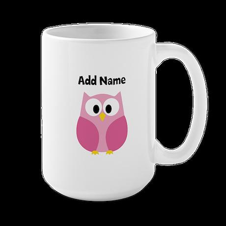 Modern Owl Pink Mugs