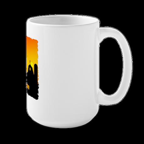 Sunrise at the Farm Large Mug