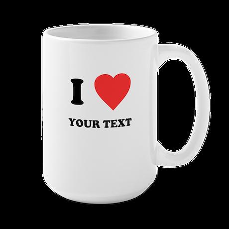 Custom I Heart Large Mug