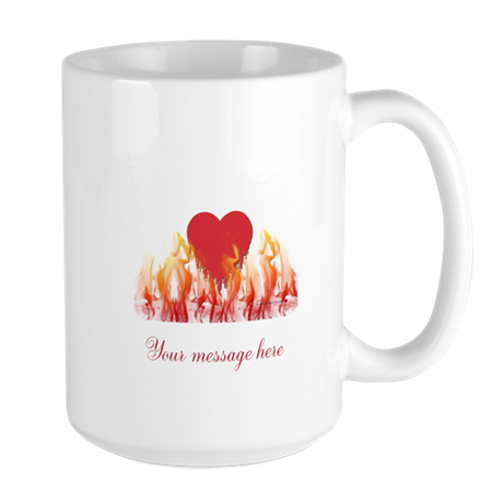 Flaming Heart Large Mug