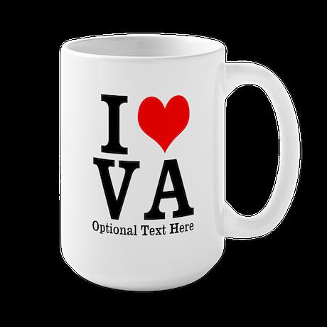 """I Heart """"Customize It"""" Large Mug"""
