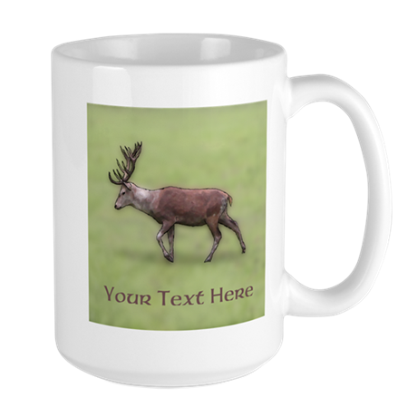 Deer Stag. Custom Text. Mug