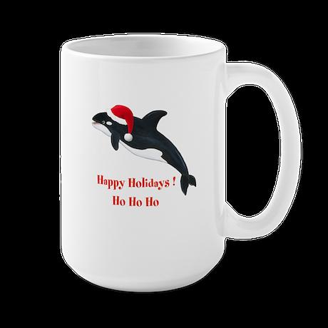 Personalized Christmas Whale Large Mug