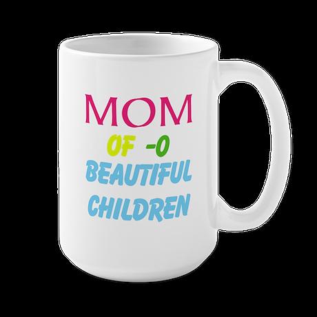 Mother Of ( Personalize number ) Childr Large Mug