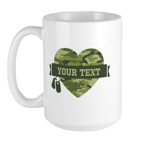 PD Army Camo Heart Large Mug
