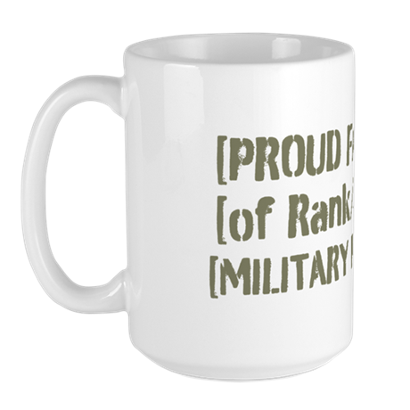 PERSONALIZED Military Family [vintage] Large Mug