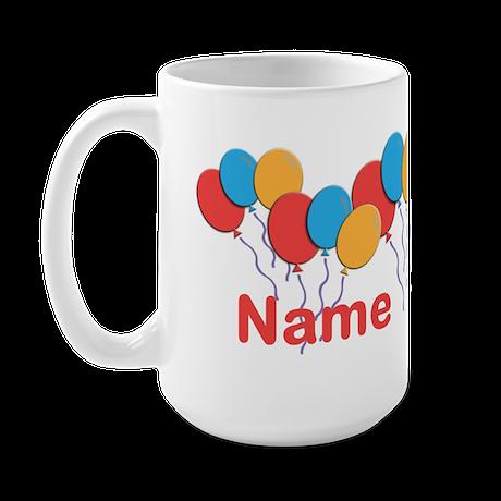 CUSTOMIZE NAME and AGE Birthday Large Mug
