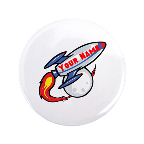 "Personalized rocket 3.5"" Button"
