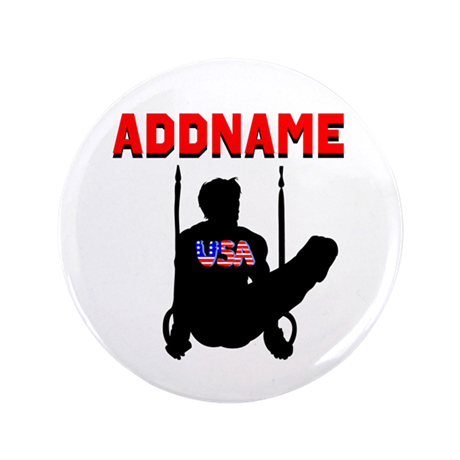 "AMERICAN GYMNAST 3.5"" Button"