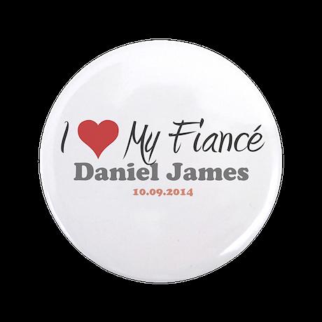 "I Heart My Fiancé 3.5"" Button"