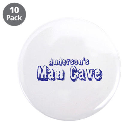"""Personalized Man Cave 3.5"""" Button (10 pack)"""