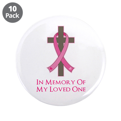 "In Memory Cross 3.5"" Button (10 pack)"