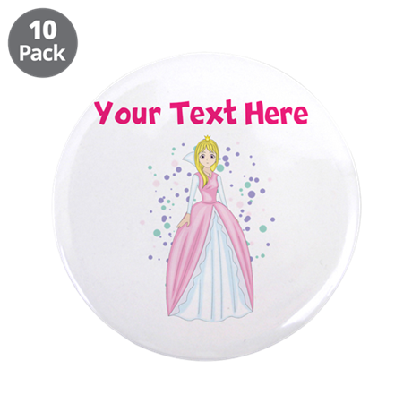 """Personalize This Princess Designed Item 3.5"""" Butto"""