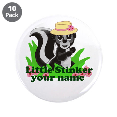 """Personalized Little Stinker (Girl) 3.5"""" Button (10"""