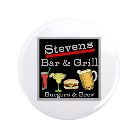 """Personalized Bar and Grill 3.5"""" Button (100 pack)"""