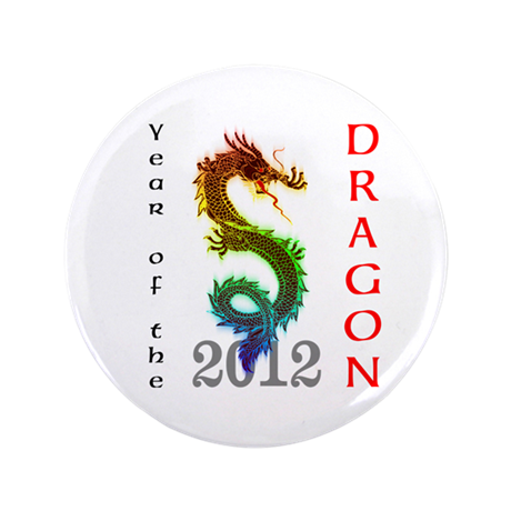 """Year of the Dragon 2012 3.5"""" Button (100 pack)"""